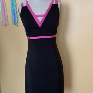 Women's Black and hot pink Dress M